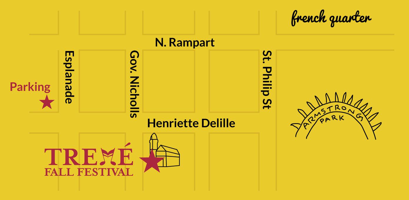 Tremé Fall Festival Map